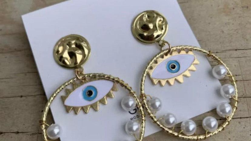 Spiritual Evil Eye Hoop Earrings