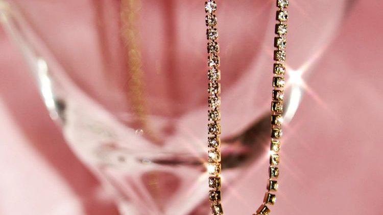 Butterfly Clavicle Rhinestone Chain Neckpiece