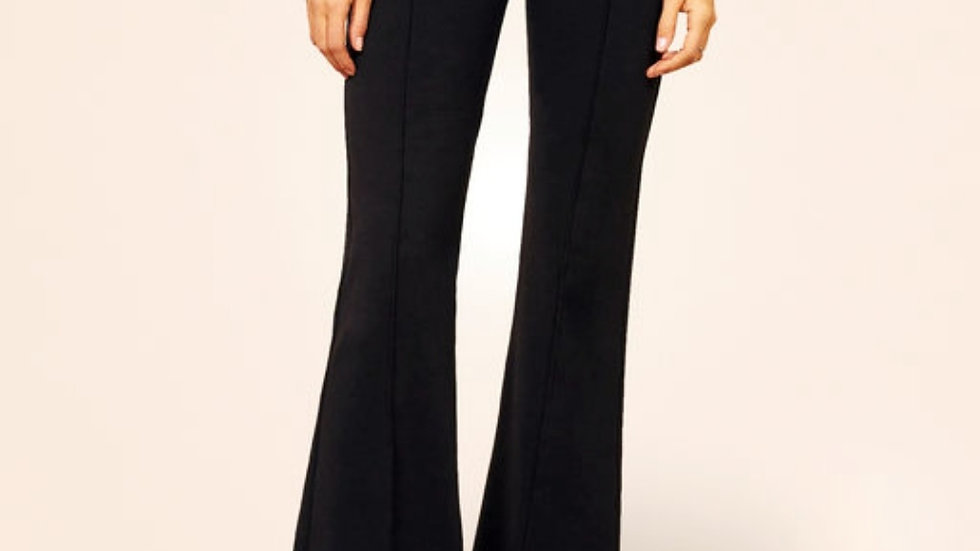 High Rise Bottom flare Slim-fit Trousers