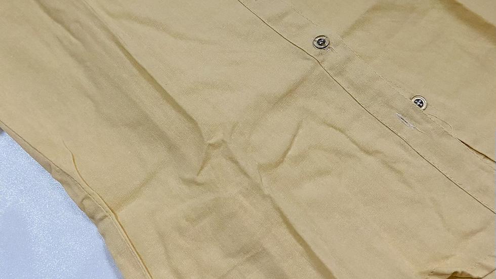 Beige Cotton Formal Shirt | Size M