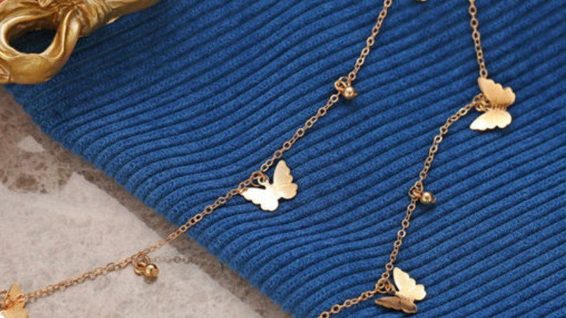 Galaxy Gracious Butterfly Multilayered Neckpiece