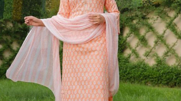 Embroidered Kurta Set with Sharara