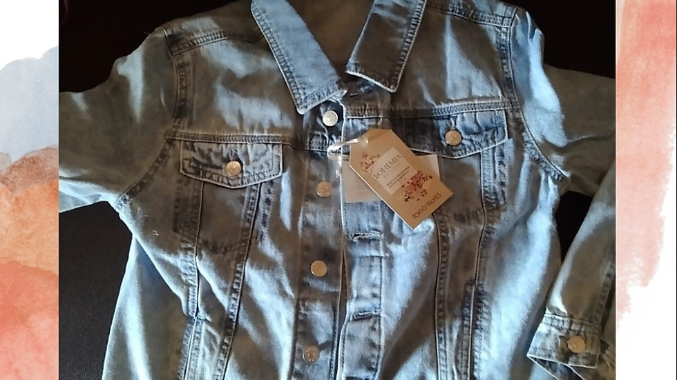 ull Sleeve Washed Denim Jacket | Size: M