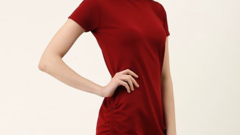Side Ruched Adjustable Dress