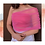Thumbnail: Women's Solid Pink Poly Crepe Top