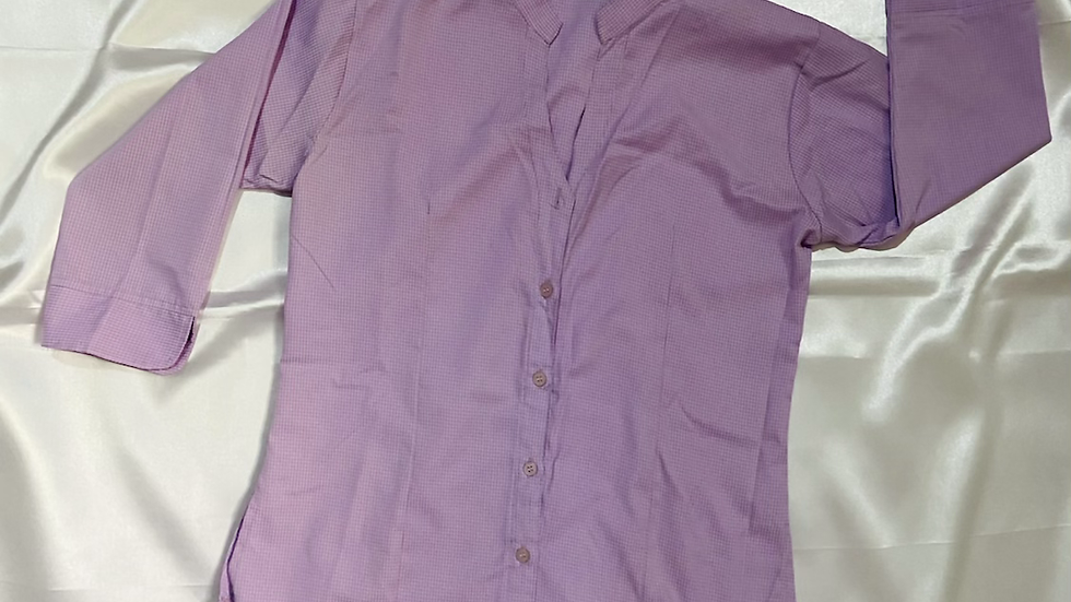 Lilac Mandarin Collar Shirt | Size M