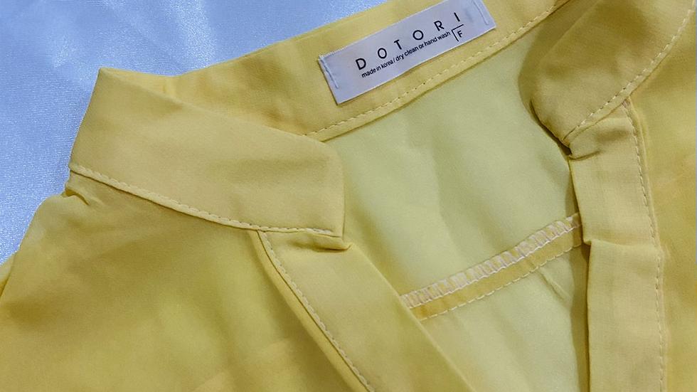 Mandarin Collar Sheer Shirt | Size S