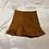Thumbnail: Golden Brown Suede Skater Skirt | Size L