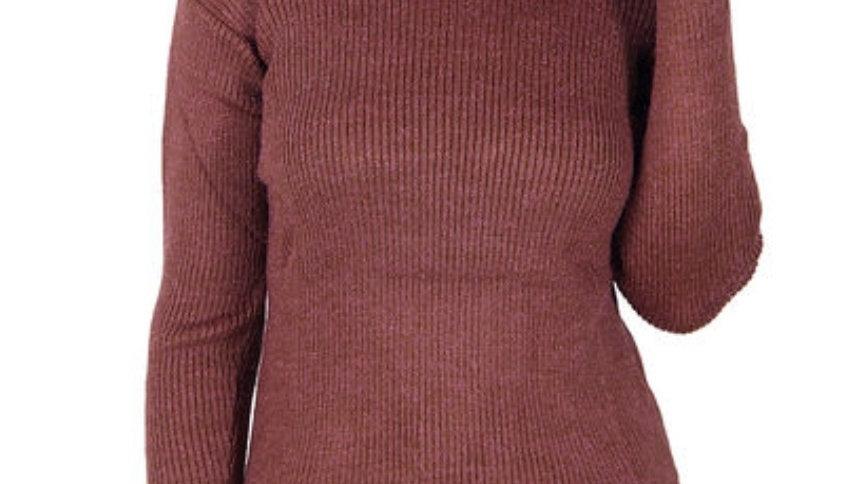 Brown wool turtleneck