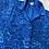 Thumbnail: Vintage Royal Blue Floral Satin Shirt