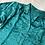 Thumbnail: 80s Vintage Teal Victorian Puff-sleeve Satin Shirt