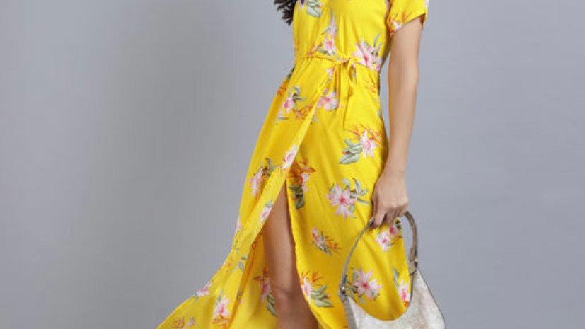 Floral Slit Summer Dresses