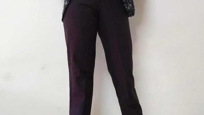 "I.N.C Chocolate Brown High Waist Trouser | Size: 28"""