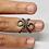Thumbnail: Mallet Finger Splint Ring Oxidised Beads
