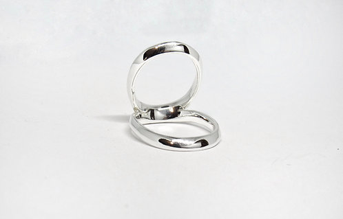 Swan Splint Ring in Sterling Silver