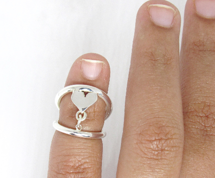 Heart Adjustable Swan Splint Ring
