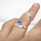 Thumbnail: Silver Ring Splint with Birthstone