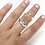 Thumbnail: Silver Ring Splint with Turquoise Stone