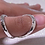 Thumbnail: Hammered Wide Band Silver Splint in Sterling Silver