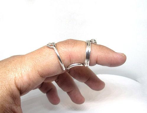 Cat  Multi Use Silver Splint Ring, Triggering, Deviation, Hyperextension