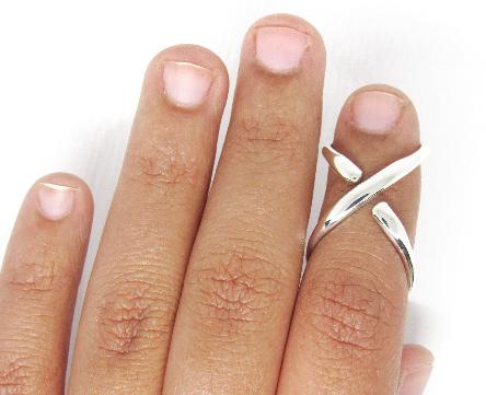 Mallet Splint Ring • Mallet Finger Ring • Silver Mallet Finger Splint