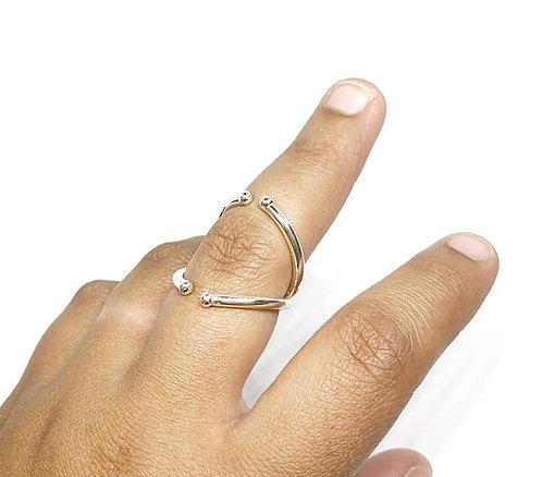 Balls Swan Splint Ring in Sterling Silver