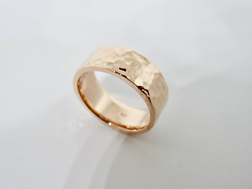 Hammered 8mm Band Ring