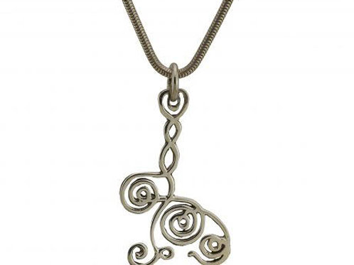 BGCQ pendant 5 in sterling silver (Subtle Energy Balancing Pendant)
