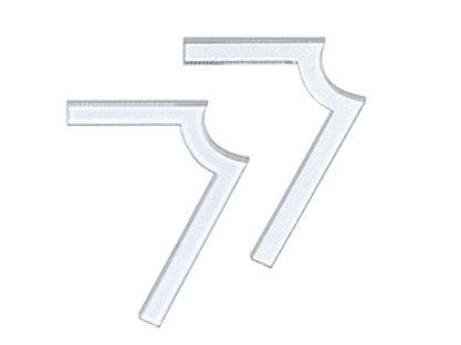 L 66 Grad Winkelaufkleber für alle Elektrogeräte       10 Stück
