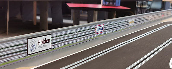 MrTrax Banner Stickers - Armco barrier with logos 3.0 metres long