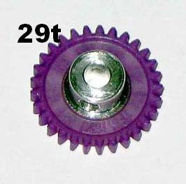 "PRO SLOT 673-29 Polymer 1/8"" Axle Gear 48p VIOLET 29"