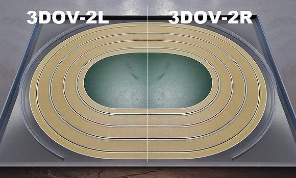 MrTrax 3DOV-22 Modular 4 Lane Oval - 2.4mt x 1.5mt