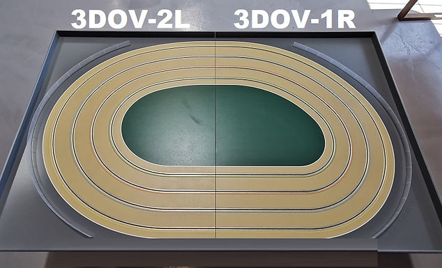 MR TRAX-3DOV-21 Modular 3 Lane Oval - 2.4mt x 1.5mt
