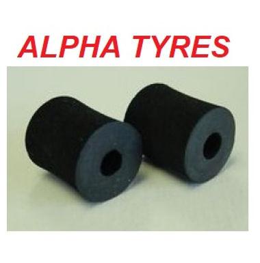 ALPHA-DONTS-PIR Piranha Rubber Donuts. Soft compound