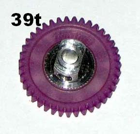 "PRO SLOT 691-39 Polymer 3/32"" Axle Gear 64p VIOLET 39"