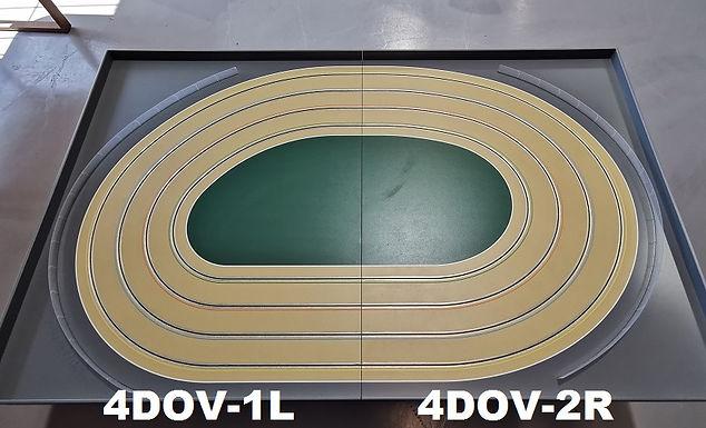 MR TRAX-4DOV-12 Modular 4 Lane Oval - 2.4mt x 1.5mt