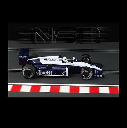 NSR Future Release 0165-IL Formula 86/89 Blue Olivetti #7 King 21 Evo 3 Motor