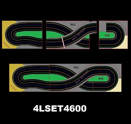 MR TRAX-4LSET(LA) Modular Track system - 4 Lanes (3 tables)