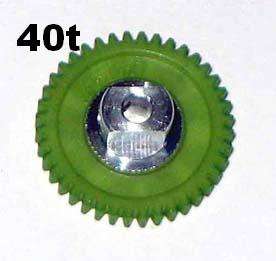 "PRO SLOT 691-40 Polymer 3/32"" Axle Gear 64p GREEN 40"