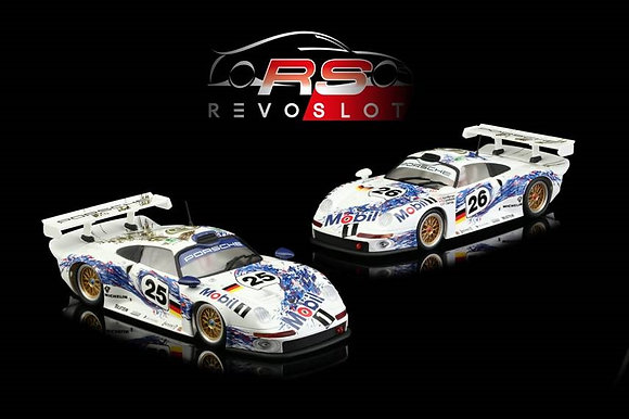 RevoSlot Future Release 0064 Porsche GT1 Mobil 1 Twin Pack #25 and #26