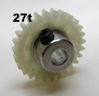 "PRO SLOT 673-27 Polymer 1/8"" Axle Gear 48p WHITE 27"