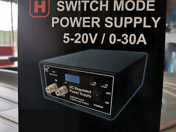 HOP WO INT 5-20V Adjustable Power Supply 0-30amps with USB Port