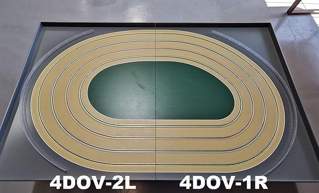MR TRAX-4DOV-21 Modular 4 Lane Oval - 2.4mt x 1.5mt