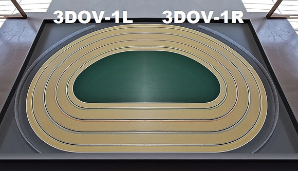 MR TRAX-3DOV-11 Modular 3 Lane Oval Set - 2.4mt x 1.5mt