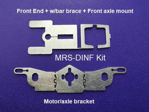 MR SLOTCAR-MRS-DINF Drag Inline Flat Chassis Kit