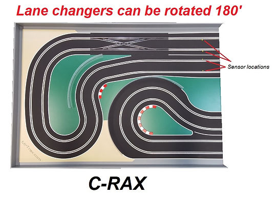 MR TRAX-C-RAX Digital Track with Double Lane Change