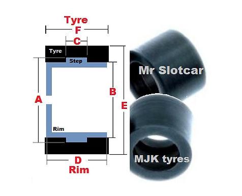 MJK-4124 Tyre - Ninco GoKart