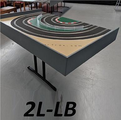 MR TRAX-2L-LB Modular 2 Lane Section - 1.2 x 0.8mt Short End Section