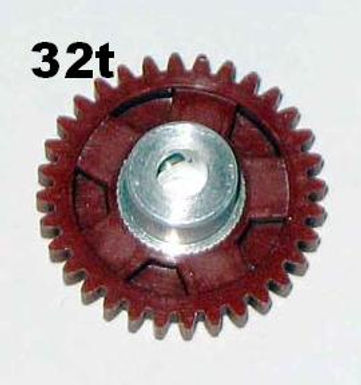 """PRO SLOT-673-32 Polymer 1/8"""" Axle Gear 48p BROWN 32"""