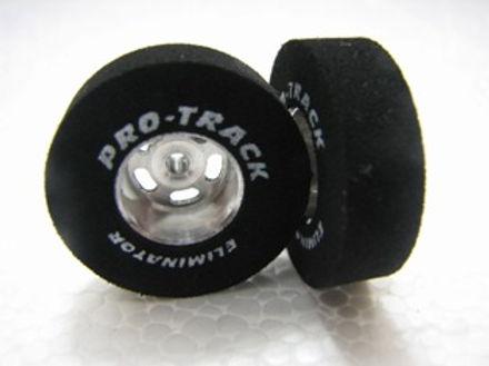 PRO TRACK-N271 3/32 x 1.0 x .300 Barracuda Drag Tyres w/Logo on Drilled Hubs